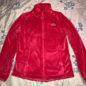 Pink north face osito fleece jacket